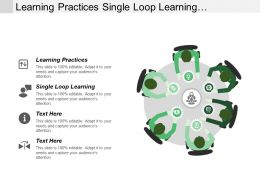 Learning Practices Single Loop Learning Implement Selected Strategies Cpb