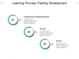 Learning Process Training Development Ppt Powerpoint Presentation File Display Cpb