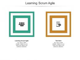 Learning Scrum Agile Ppt Powerpoint Presentation Professional Icon Cpb