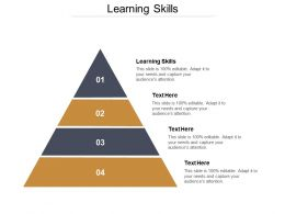 Learning Skills Ppt Powerpoint Presentation Gallery Format Ideas Cpb