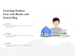 Learning Student Icon With Books And School Bag