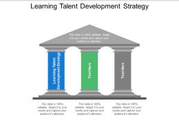 Learning Talent Development Strategy Ppt Powerpoint Presentation Backgrounds Cpb