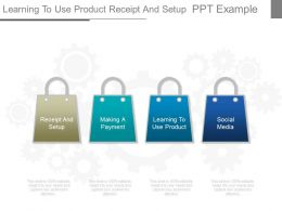 Learning To Use Product Receipt And Setup Ppt Example
