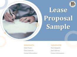 Lease Proposal Sample Powerpoint Presentation Slides