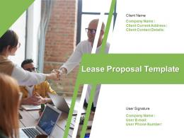 Lease Proposal Template Powerpoint Presentation Slides