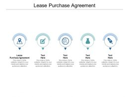 Lease Purchase Agreement Ppt Powerpoint Presentation Show Cpb