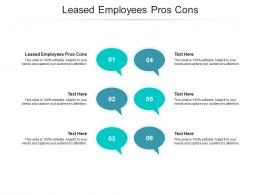 Leased Employees Pros Cons Ppt Powerpoint Presentation Layouts File Formats Cpb
