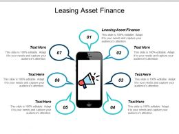 Leasing Asset Finance Ppt Powerpoint Presentation Summary Sample Cpb