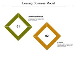 Leasing Business Model Ppt Powerpoint Presentation Visual Aids Files Cpb