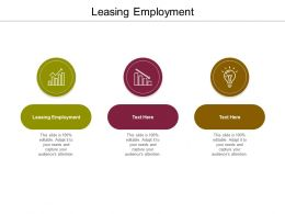 Leasing Employment Ppt Powerpoint Presentation Infographics Master Slide Cpb