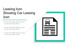 Leasing Icon Showing Car Leasing Icon