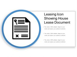 Leasing Icon Showing House Lease Document
