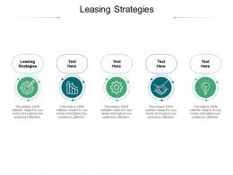 Leasing Strategies Ppt Powerpoint Presentation Summary Graphics Example Cpb
