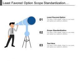 Least Favored Option Scope Standardization Lower Evaluation Limit