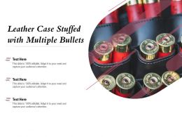 Leather Case Stuffed With Multiple Bullets