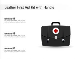 Leather First Aid Kit With Handle