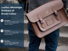 Leather Messenger Briefcase Of Brown Colour