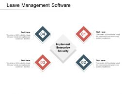 Leave Management Software Ppt Powerpoint Presentation Model Inspiration Cpb