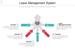 Leave Management System Ppt Powerpoint Presentation Outline Graphics Pictures Cpb