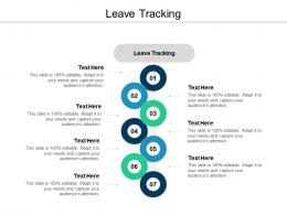 Leave Tracking Ppt Powerpoint Presentation Slides Visuals Cpb