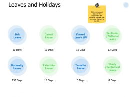Leaves And Holidays Business Ppt Powerpoint Presentation Gallery Display