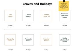 Leaves And Holidays Maternity J205 Ppt Powerpoint Presentation File Example