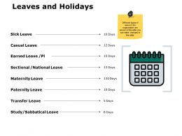 Leaves And Holidays Ppt Powerpoint Presentation File Guide