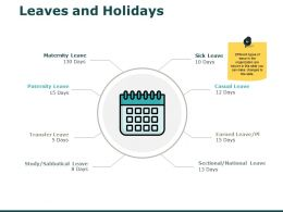 Leaves And Holidays Process Ppt Powerpoint Presentation Model Samples