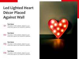 Led Lighted Heart Decor Placed Against Wall