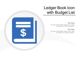Ledger Book Icon With Budget List