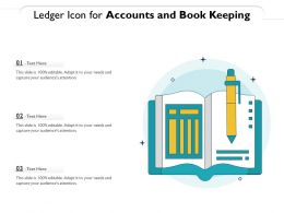 Ledger Icon For Accounts And Book Keeping