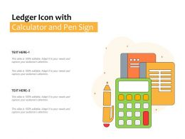 Ledger Icon With Calculator And Pen Sign