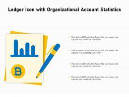 Ledger Icon With Organizational Account Statistics