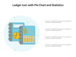 Ledger Icon With Pie Chart And Statistics