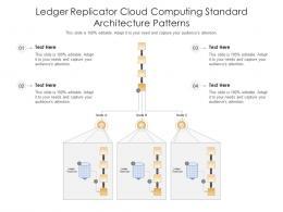 Ledger Replicator Cloud Computing Standard Architecture Patterns Ppt Presentation Diagram
