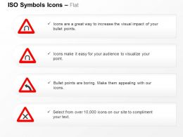 Left And Right Hairpin Bend Left Bend Cross Roads ISO Icons For Powerpoint