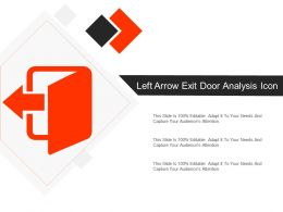 Left Arrow Exit Door Analysis Icon