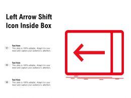 Left Arrow Shift Icon Inside Box