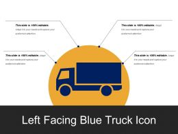 Left Facing Blue Truck Icon