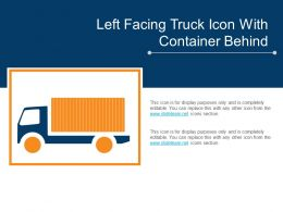 Left Facing Truck Icon With Container Behind