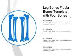 Leg Bones Fibula Bones Template With Four Bones