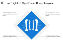Leg Thigh Left Right Femur Bones Template