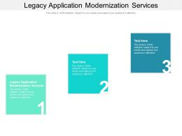 Legacy Application Modernization Services Ppt Powerpoint Presentation Model Background Designs Cpb