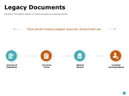 Legacy Documents Notes Ppt Powerpoint Presentation Professional Elements