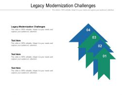 Legacy Modernization Challenges Ppt Powerpoint Presentation Gallery Visuals Cpb
