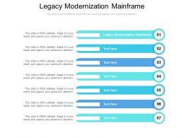 Legacy Modernization Mainframe Ppt Powerpoint Presentation Layouts Information Cpb