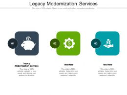 Legacy Modernization Services Ppt Powerpoint Presentation Icon Graphics Download Cpb