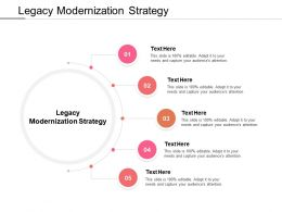 Legacy Modernization Strategy Ppt Powerpoint Presentation Icon Example Cpb