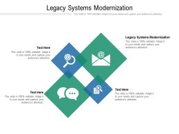 Legacy Systems Modernization Ppt Powerpoint Presentation Gallery Show Cpb