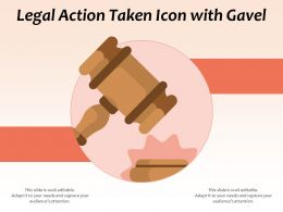 Legal Action Taken Icon With Gavel